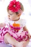 Bostezo/gruñido del bebé Imagen de archivo libre de regalías