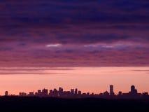 Boston świtu linia horyzontu zdjęcia royalty free