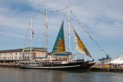 BOSTON - 11 JUILLET : Voile Boston, bateaux grands Photo libre de droits