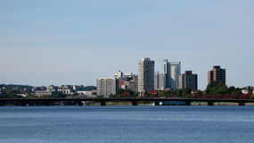 Boston. A beautiful view of the Boston skyline, over a river Stock Photos