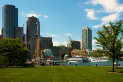 Boston. Panorama picture of Boston in MA, USA Stock Image