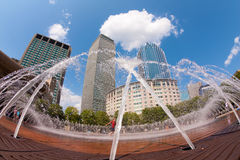 Boston. View of a fountain in front of the prudential building in Boston, Massachusetts, USA Stock Photography