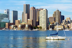 Boston. Skyline of Boston in Massachusetts, USA Royalty Free Stock Photography