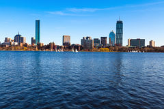 Boston. Panoramic view of Boston in Massachusetts, USA on a sunny spring day Royalty Free Stock Photo