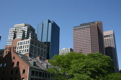 Boston. Buildings near Boston's Fanueil Hall stock photo