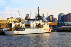 Boston Harbour US Coast Guard Stock Images