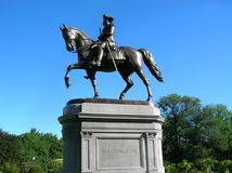 Boston. George Washington Statue in Boston's Public Gardens royalty free stock image