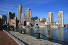 Boston. A path along Boston Harbor Stock Images