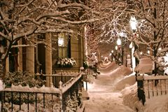 зима boston Стоковая Фотография
