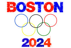 Boston 2024 Lizenzfreie Stockbilder