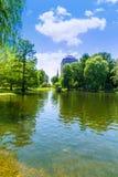 Boston共同的湖和地平线在马萨诸塞 免版税库存图片