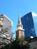 Boston. Church steeple in downtown Boston Stock Photography