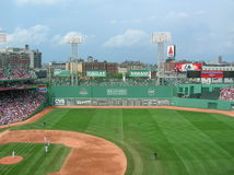 Boston. A view of the Fenway Park outfield and Green Monster Royalty Free Stock Images