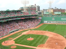 Boston. A game at Fenway Park Stock Photos