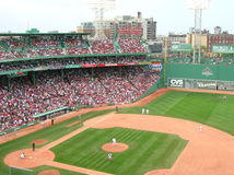 Boston. A Red Sox game at Fenway Park Royalty Free Stock Photo