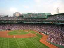Boston. A game at Fenway Park royalty free stock photos