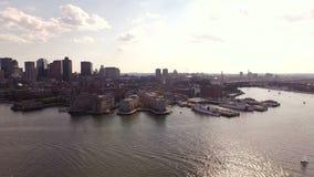 Boston Aerial stock footage