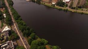 Boston Aerial stock video footage