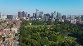Boston aerial view, Massachusetts MA, USA