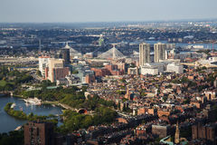 Boston Aerial View Royalty Free Stock Photos