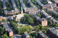 Boston Aerial View Royalty Free Stock Photo