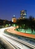 Boston alla notte Immagini Stock