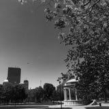 Boston allmänning och Parkman Bandstand Royaltyfri Bild