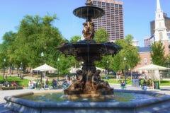 Boston allmänningbryggare Fountain Arkivbild