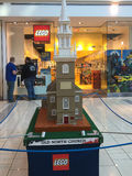 Boston-alte Nordkirchengestalt mit Lego Stockfoto