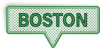 Boston anförandebubbla som isoleras på vit Fotografering för Bildbyråer