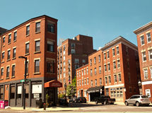 Boston apartment buildings Stock Images