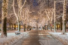 Boston At Christmas Royalty Free Stock Photos