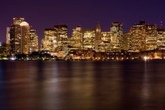 Free Boston At Night Royalty Free Stock Photography - 6547677