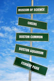 Boston attraction signs stock images