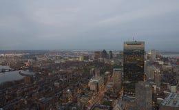 Boston au crépuscule Image libre de droits
