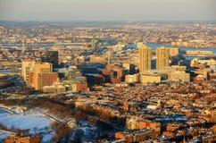Boston błonie przy zmierzchem, Massachusetts, usa obraz royalty free