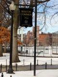 Boston błonia znak Zdjęcia Royalty Free