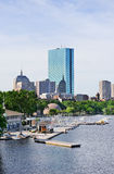 Boston back bay. With sailing boat and urban building city skyline in the morning Stock Photos