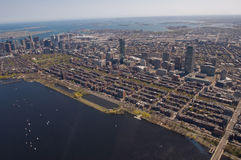 Boston Back Bay aerial Royalty Free Stock Photo