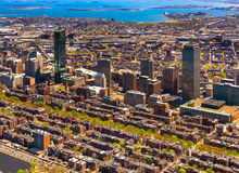 Boston Back Bay aerial Stock Photo