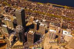 Boston Back Bay aerial Royalty Free Stock Photography