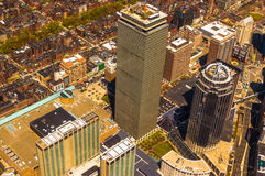 Boston Back Bay aerial Royalty Free Stock Images