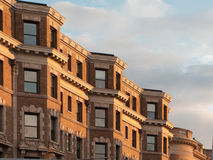 Boston Back Bay Brownstones. Detail view of Boston's famous brownstone architecture Royalty Free Stock Photo