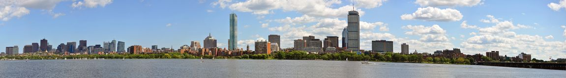 Boston Back Bay Panorama. Boston Back Bay Skyline Panorama, from Cambridge, Massachusetts, USA Royalty Free Stock Photo