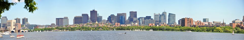Boston Back Bay Panorama Royalty Free Stock Photography