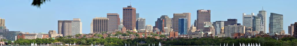 Boston Back Bay Panorama Royalty Free Stock Photos