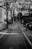 Boston bakgata i svart & vit Royaltyfri Bild