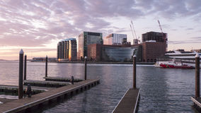 Boston-Bau fährt fort Stockfoto