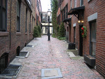 Boston, Beacon Hill 01. An alleyway in historic Beacon Hill, Boston Stock Images