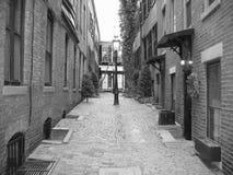 Boston, Beacon Hill 02. An alleyway in historic Beacon Hill, Boston stock image